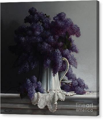 Lilacs Study No.2 2011 Canvas Print by Larry Preston
