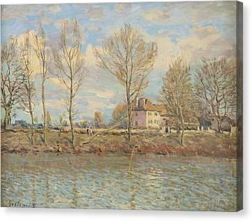 Ile De La Grande Jatte, Neuilly Sur Seine Canvas Print by Alfred Sisley