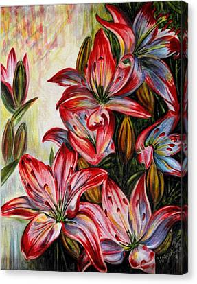 Lilies Canvas Print by Harsh Malik