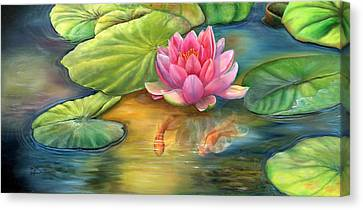 Lilly Pond Canvas Print by Kathy Brecheisen