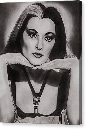 Lily Munster Canvas Print by Brian Broadway