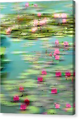 Lily Pond Impressions Canvas Print by Jessica Jenney