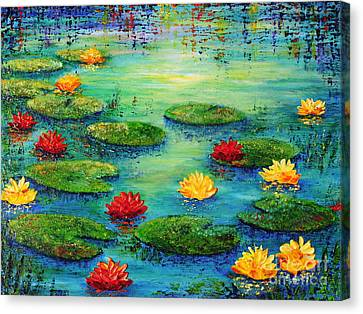 Lily Pond Canvas Print by Teresa Wegrzyn