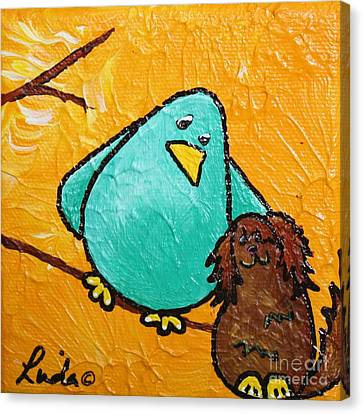 Limb Birds - Bird Dog Canvas Print by Linda Eversole