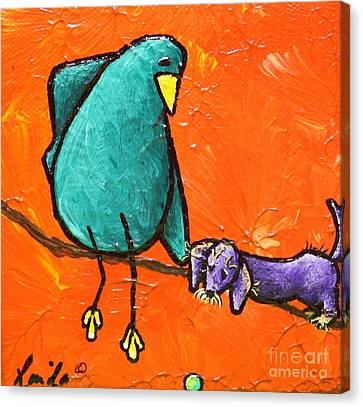 Limb Birds - You Get It Canvas Print by Linda Eversole