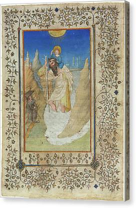 Limbourg Brothers, Saint Christopher Carrying The Christ Canvas Print by Litz Collection