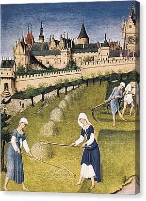 Limbourg, Jean Ca. 1370-1416 Limbourg Canvas Print by Everett