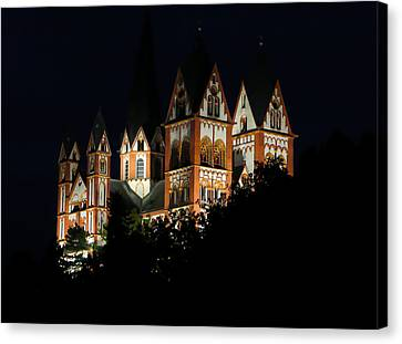 Limburg Cathedral At Night Canvas Print by Jenny Setchell