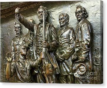 Lincoln Arming The Freed Slaves Canvas Print by David Bearden