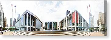 Lincoln Center Nyc Canvas Print by Nishanth Gopinathan