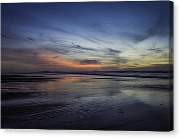 Lincoln City Sunset Canvas Print by Colby Drake