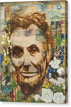 Lincoln Crossed My Mind Canvas Print by Andrea LaHue aka Random Act