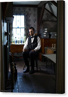 Lincoln In The Attic 2 Canvas Print by Ray Downing