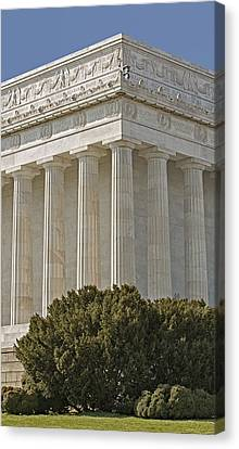 Lincoln Memorial Pillars Canvas Print by Susan Candelario