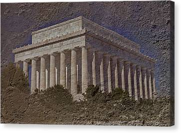 Lincoln Memorial Canvas Print by Skip Willits