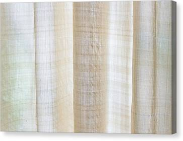 Linen Curtain Canvas Print by Tom Gowanlock
