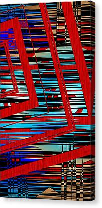 Lines And Design Canvas Print by Mario Perez
