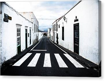 Lines Of Lanzarote Canvas Print by Mountain Dreams