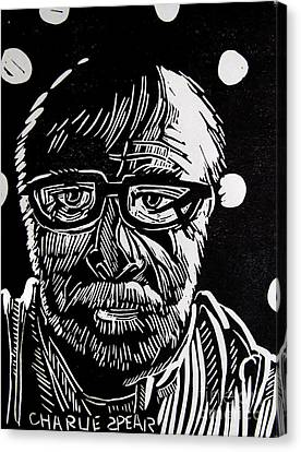 Lino Cut Charlie Spear Canvas Print by Charlie Spear