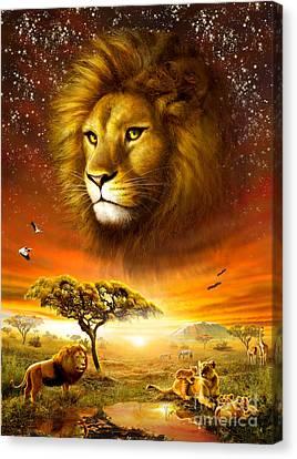 Lion Dawn Canvas Print by Adrian Chesterman
