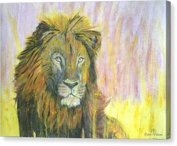Lion Canvas Print by Dylan Williams