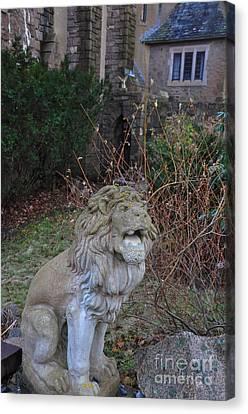 Lion Gargoyle Canvas Print by Leanna Faro