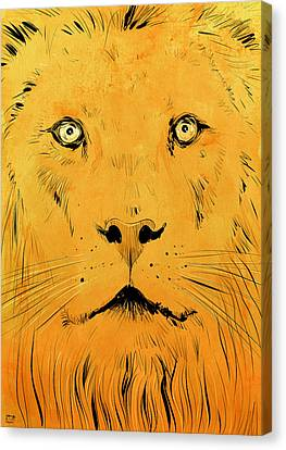 Lion Canvas Print by Giuseppe Cristiano