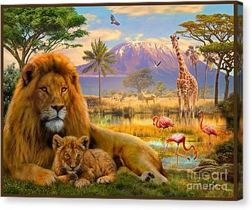 Lion Canvas Print by Jan Patrik Krasny