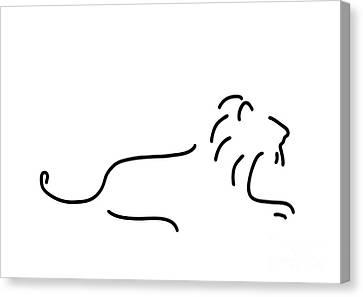 Lion Mane Canvas Print by Lineamentum
