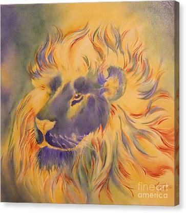 Lion Of Another Color Canvas Print by Summer Celeste