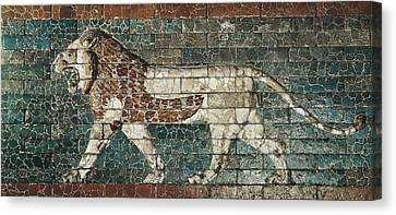 Lion Representing Ishtar, Frieze Canvas Print by Everett