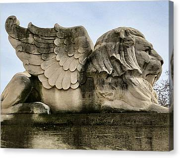 Lion With Wings Canvas Print by Patricia Januszkiewicz
