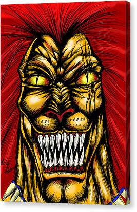 Liono Canvas Print by Michael Mestas