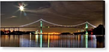 Lions Gate Bridge In Colour Canvas Print by Naman Imagery