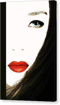 Lips Canvas Print by Bruce Iorio