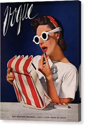 Lipstick, Quick! Canvas Print by Horst P. Horst