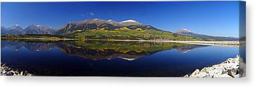 Liquid Mirror Panorama Canvas Print by Jeremy Rhoades