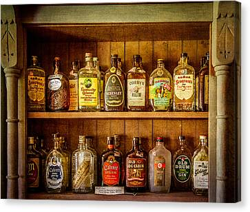 Liquor Cabinet Canvas Print by Paul Freidlund