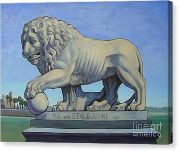 Listen To The Lion I Canvas Print by Teri Tompkins