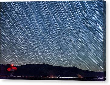 Listening To The Stars Canvas Print by Cat Connor