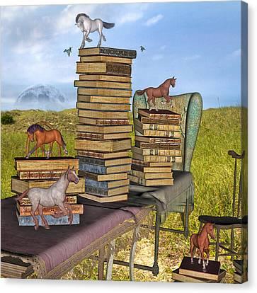Literary Levels Canvas Print by Betsy Knapp