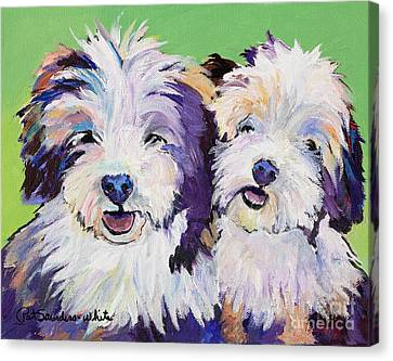 Litter Mates Canvas Print by Pat Saunders-White
