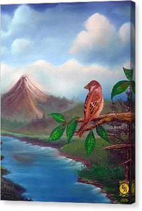 Little Bird Canvas Print by Richard Bantigue