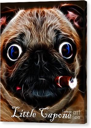 Little Capone - C28169 - Electric Art - With Text Canvas Print by Wingsdomain Art and Photography