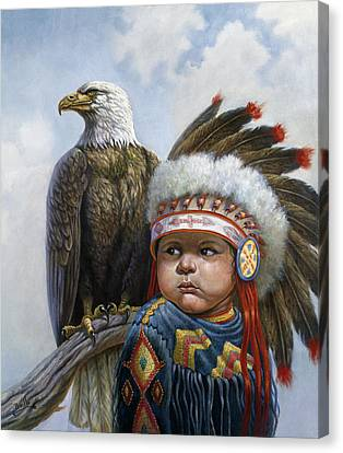 Little Chief Canvas Print by Gregory Perillo