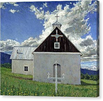 Little Church At Ocate Canvas Print by Steven Boone