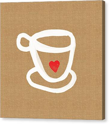 Little Cup Of Love Canvas Print by Linda Woods