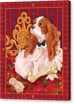 Little Dogs - Cavalier King Charles Spaniel Canvas Print by Shari Warren