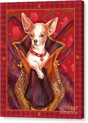 Little Dogs- Chihuahua Canvas Print by Shari Warren