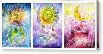 Little Dream Triptic Canvas Print by Mo T